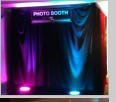 Up Lights, photo booth, party rent